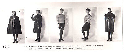 GUMMI FETISCH LATEX WÄSCHE RUBBER UNDIES FETISH * Vintage 60s US Promo Photo G6
