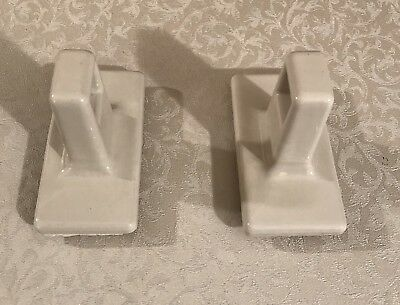 Vintage White Porcelain Towel Bar Holders