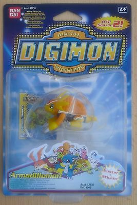Ban Dai 13230 Ref 3963 - Digimon Digital Monsters 2 Figur Armadillomon (Neu)