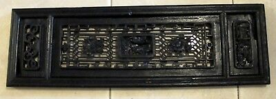 Vintage Chinese Hand Carved Wooden Wedding Wall Headboard