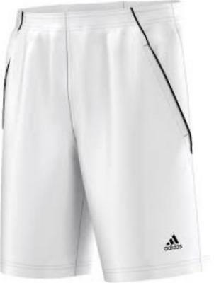 ADIDAS MENS TENNIS bermuda climalite white shorts new o04782 size small to xxl