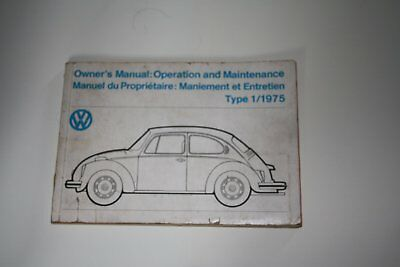 1975 VW Beetle Owners Manual Operation and Maintenance