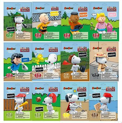 BanBao Snoopy Tobees Minifigure Set of 12 Pieces #7538 - Peanuts Collection