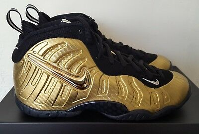 09217e29047 Nike Little Posite Pro (GS) Metallic Gold Black Foamposite Size 5.5Y 644792