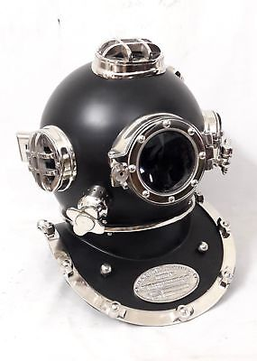 Vintage Brass Diving Divers Helmet Solid Steel US Navy Mark V Full Size Scuba