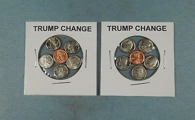 Trump Change - 10 Mini Coin Sets - 5 Of Each Type.