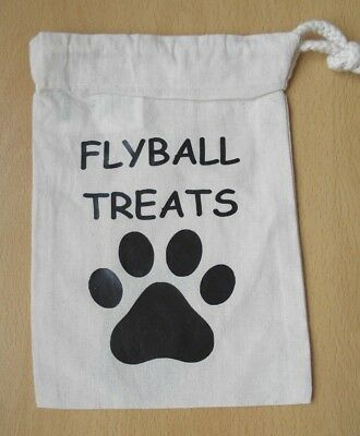 Flyball Dog Treat Pouch Bag Brand New Cotton Puppy Training Paw Print