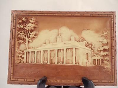 The Home of Washington at Mount Vernon Raised 3D Woodlook Wall Art Plaque