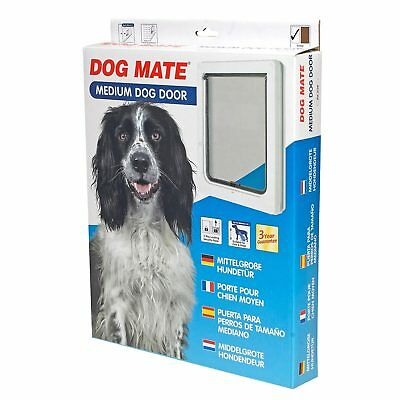 Dog Mate Medium Pet 2 way Locking Door White