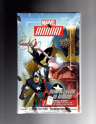 2016 Upper Deck  Marvel Annual  sealed case of 12 boxes