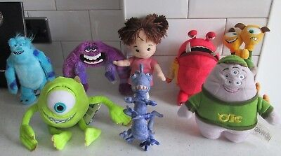 Monsters University Inc Sulley Mikey Squishy Art Boo Randall Terryperry Soft Toy
