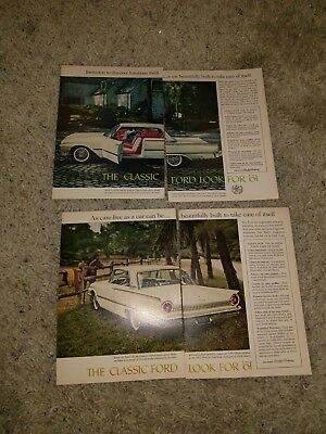 LOT OF VINTAGE Ford car ads 1960s