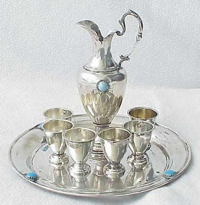 19c RUSSIAN IMPERIAL GOBLET CHALICE VODKA SILVER CUP SHOT GLASSES BOWL PAN KOVSH