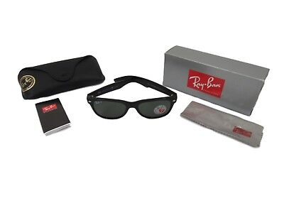 9dd995647257a RAY BAN NEW Wayfarer RB 2132 901 58 Black Sunglasses Green Polarized 55mm -   88.75