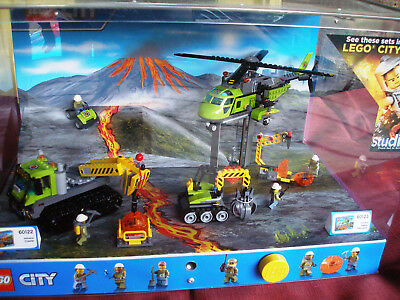 LEGO store display! LEGO City Mining Helicopter Volcano!!! Works Perfect!