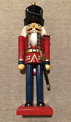 christmas decoration holiday wooden soldier nutcracker guard with sword 14 tall