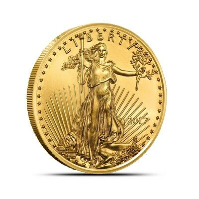 2017 1/2 oz Gold American Eagle Coin $25 Gem Uncirculated (BU) Low Mintage!