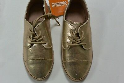 NWT Gymboree 12 Girls Kitty in Pink Girls Gold OxFord Shoes