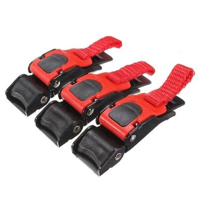 3x Plastic Motorcycle Helmet Speed Clip Chin Strap Quick Release Pull Buckl W3W1