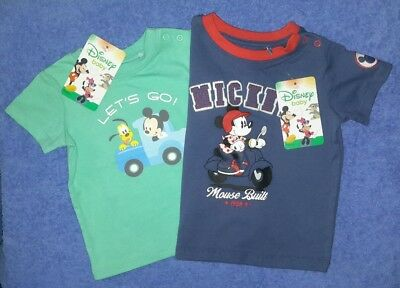 2 x DISNEY Baby T-Shirts Size  000 and 00 BNWTS