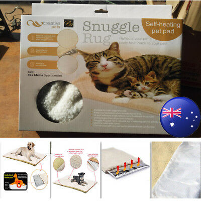 Snuggle Rug Self Heating Dog Cat Puppy Pet Pad Washable Winter Fleece Bed Mat