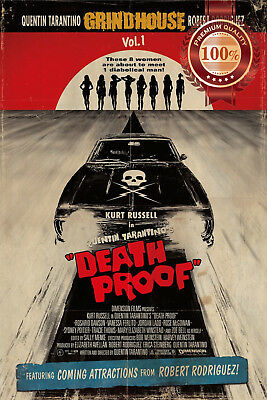 New Death Proof Grindhouse Official Movie Original Cinema Print Premium Poster