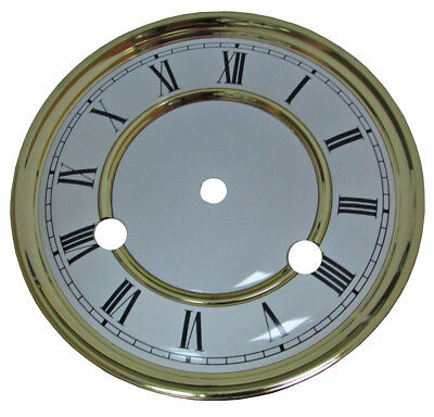 "4-3/4"" Vienna Regulator RA Clock Dial with Back Feet for Hermle Movement (C-351)"