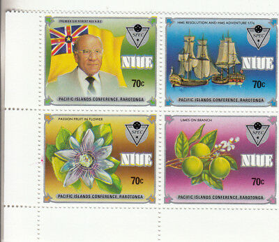 NIUE: 1983 Commonwealth Day block of 4 SG475/8. MUH/MNH. High retail.Going Cheap