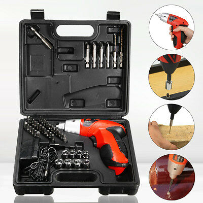 Electric 4.8V 45 Pieces Cordless Screwdriver Drill Driver Set Rechargeable Drill