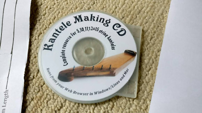 Plans for 11 & 5 String Kantele (Full size A1 paper) with Kantele making CD-ROM