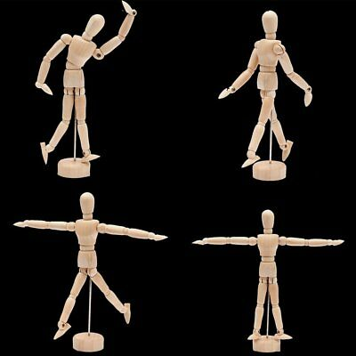 Wooden Manikin Human Figure Artist Draw Painting Model Mannequin Jointed Doll K6