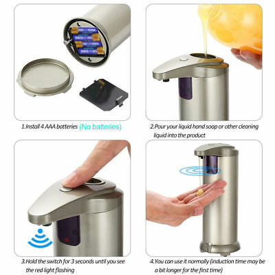 Automatic Touchless Handsfree Infrared Sensor Liquid Soap Sanitizer Dispenser