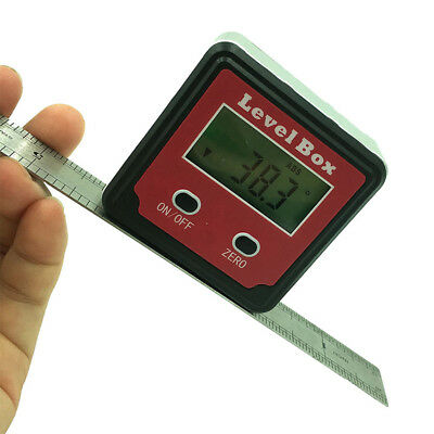 Digital Inclinometer Protractor Angle Finder Bevel Box Magnetic Base Carpentry