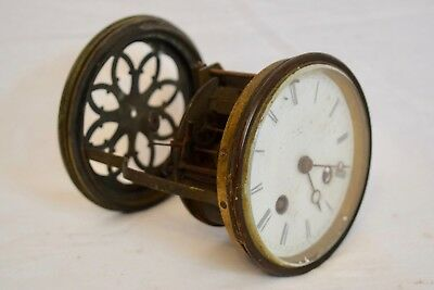 Antique C.1900 V.r. Brevete Paris French Mantel Clock Movement, Dial & Mount