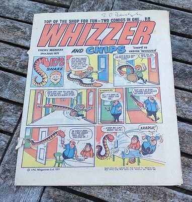 VINTAGE WHIZZER COMIC 24th July 1971 includes advert for TV 21 Chips Missing