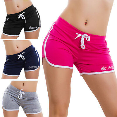 Pantaloncini corti donna shorts hot pants sport leggings fitness cotone R-031