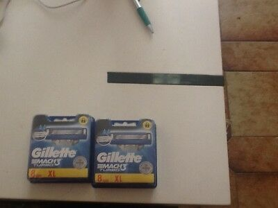 gillette mach3 turbo 2X8 neuf sous blister
