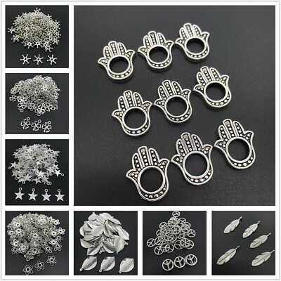 Alloy Bead Cap Ancient Bronze Charms Key Shape Pendant Charms For Jewelry Making