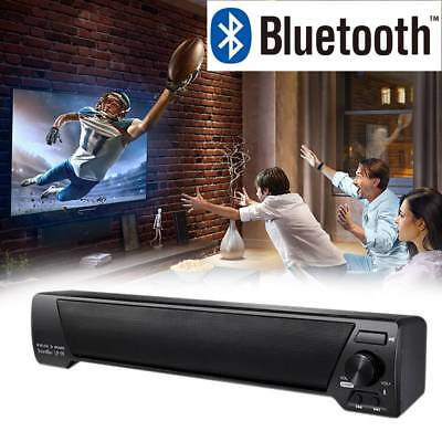 Bluetooth 4.2 Wireless Stereo TV Speaker 3D Sound Bar Home Theater Subwoofer Box
