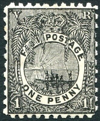 FIJI-1893 1d Black Perf 11 x 10 Sg 82 MOUNTED MINT V23774