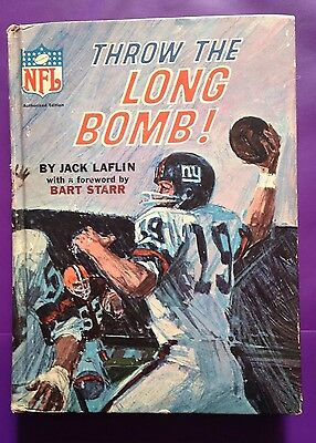 1967 Nfl Throw The Long Bomb! By Jack Laflin With Bart Starr Hardback! Vintage🏈
