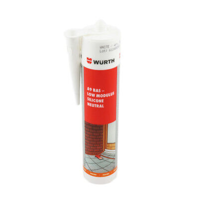 12 x Wurth A9 BAS Low Modulus Silicone Sealant Neutral Cure Internal External