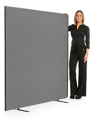 Office divider - grey fabric covered office screen 1200mm wide x 1800mm high