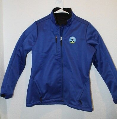 AT&T Pebble Beach ProAm Jacket Light Weight Cold Weather Water Resistant Wms L