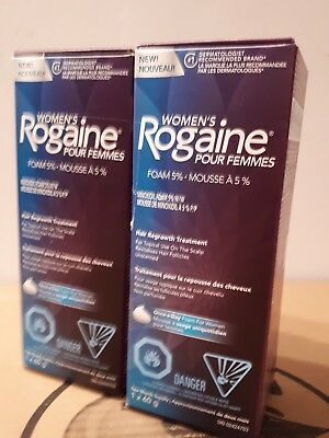Rogaine Women's 5% Minoxidil Foam 4-month Supply Expiry 11/2018 or later!!