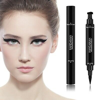 Black Cat Eyeliner Vamp Pen Stamp Seal Winged Head Waterproof Makeup Eye Liner