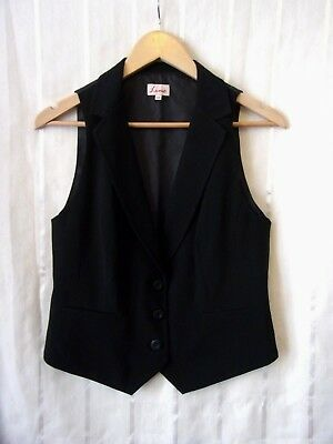 Suit Waistcoat Size 14 by Lime.Black.Silky Back with Buckle Belt.Lined.