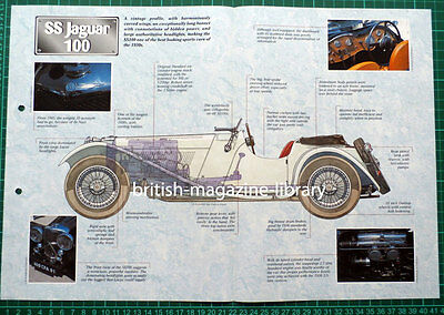 Jaguar SS 100 - Technical Cutaway Drawing