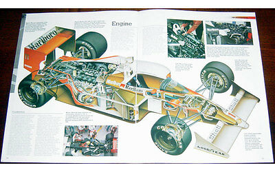 McLaren MP4/4 Fold-out Poster + Cutaway  drawing