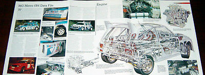 MG Metro 6R4 - technical cutaway + poster